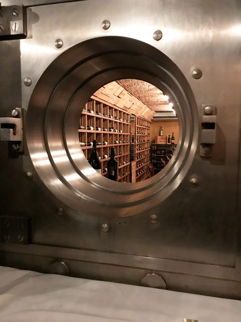 Photo of a large vault inside The Vault building